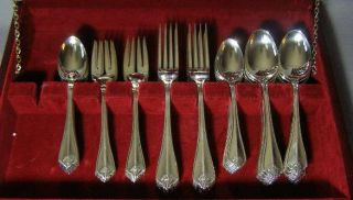 Oneida Stainless Glossy King James Service for 12 67 Pcs Xtra Spoons