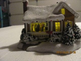 Thomas Kinkade 2008 Childhood Home Lighted Christmas Cottage from