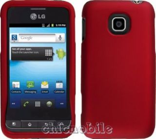 Premium Titanium Red Case Cover  Net 10 LG Optimus Net L45C
