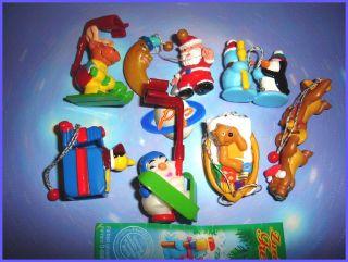 KINDER SURPRISE SET   CHRISTMAS XMAS PENDANTS 2004   TOYS FIGURES