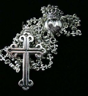 King Queen Baby Studio Rosary Fleur Cross Crowned Heart