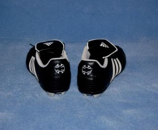 Kids Youth Adidas Soccer Cleats Black White Shoes Boy Girl Size 3 5 3