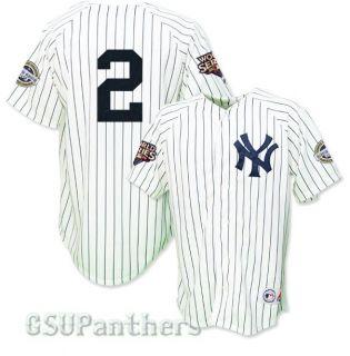 Jeter New York Yankees 2009 World Series Home Jersey Sz M 2XL