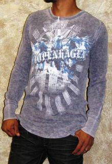 Mens Kinetix Copenhagen Print Thermal T Shirt Gary Med