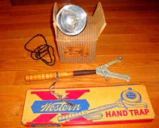 Antique Kilborn Co Car Spot Light Vintage Western Co Hand Trap NOS