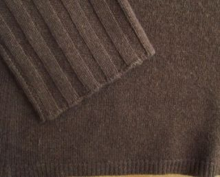 Kinross Cashmere Espresso Brown Turtleneck T Neck Sweater M