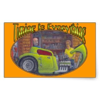 32 Ford three window coupe hot rod. Rectangle Sticker