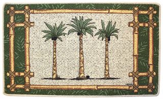 Palm Tree Oasis Kitchen Rug Laundry Room Mat Tropical Palm Tree Decor