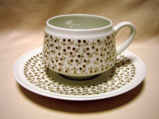 ARABIA Finland, Esteri Tomula, Kimmel, Vintage Coffee Cup and Saucer