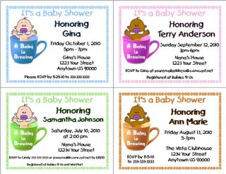Baby Is Brewing Shower Party Personalized Party Invitations