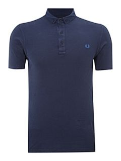 Fred Perry Gingham polo shirt Navy