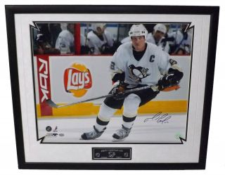 New Mario Lemieux Signed High Quality Custom Framed 16x20 Reich PM