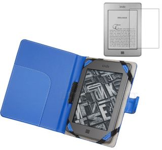 Leather Case Cover for  Kindle Touch Reader+Screen Protector