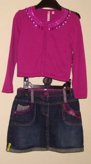 Mathew Williamson Butterfly Jewel Cardigan and Skirt 4 5 Years