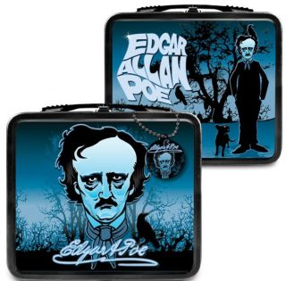 Edgar Allan Poe Metal Lunch Box Think Geek Gift Novelty Retro
