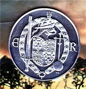Franklin Mint Kings of England Sterling Silver Round