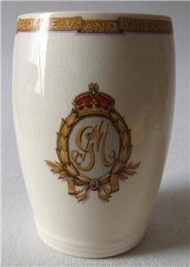 Royal Jubilee 1935 King George V Queen Mary Staffordshire Beaker