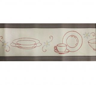 Wallpaper Border Ralph Lauren Kitchen Dishware Cute
