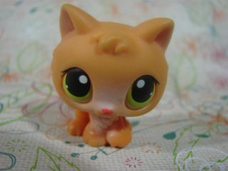Littlest Pet Shop LPS 86 Orange Baby Kitten Green Eyes Retired