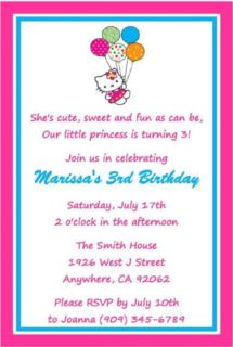 Hello Kitty Birthday Party Invitation Favor Water Candy