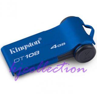 Kingston 4GB 4G USB Flash Memory Drive Flip Blue DT108
