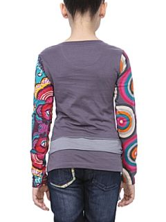 Desigual Girl`s knitted t shirt, long sleeve Grey   House of Fraser