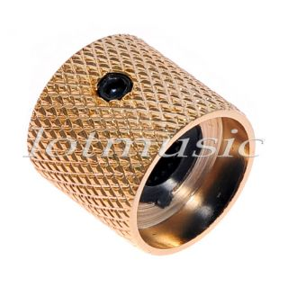 2pcs High Quality Bronze Dome Guitar Knob Screw Style Solid Shaft GOLD