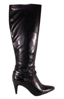 Calvin Klein Womens Norina Stretch Black Knee High Dress Boots E7643