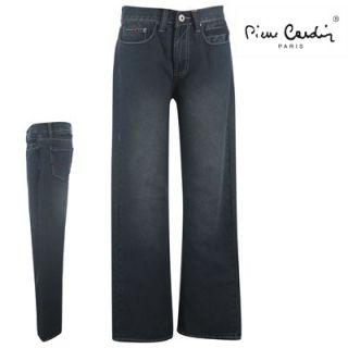 Genuine Pierre Cardin Mens Designer Indigo Denim Jeans