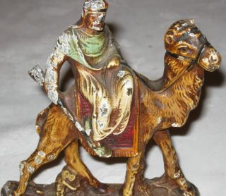Hubley Arab War Knight Camel Gun Art Statue Sculpture Bookends