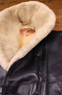 Vtg Horsehide 40s Belted Leather Barnstormer Car Coat Motorcycle