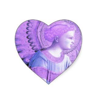 Guardian Angel of Victory Heart Sticker