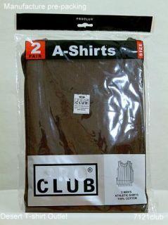 PROCLUB mens A shirts Tank Tops Undershirts BROWN PRO CLUB S   5XL