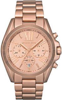New Michael Kors Rose Gold Tone Chronograph Mens Watch MK5503