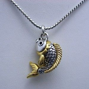 Necklace China Tale Gold Koi Fish Lucky Charm Snake Chain New
