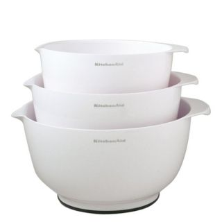 KitchenAid Polypropylene Mixing Bowl Set 3 White