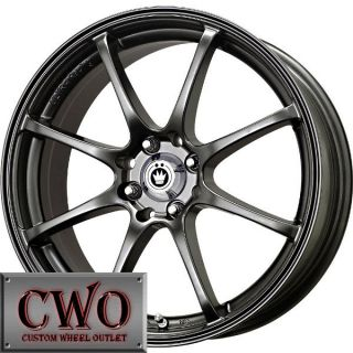 17 Black Konig Feather Wheels Rims 4x100 4 Lug Civic Mini G5 Cobalt XB