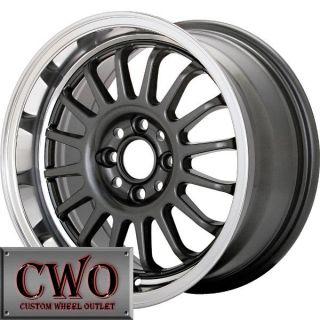 15 Gunmetal Konig Retrack Wheels Rims 4x100 4 Lug Civic Mini Cobalt XB