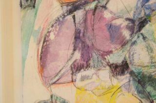Original Signed Willem de Kooning 50th Birthday Card Design Painting
