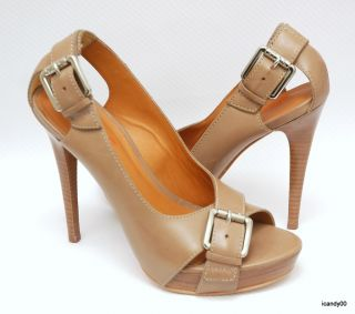 New $295 Kors Michael Kors Portland Open Toe Pump Buckle Platform