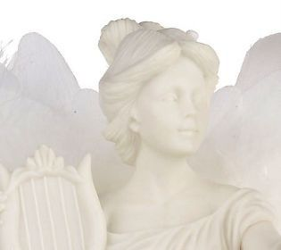 Mark Klaus Fiber Optic Revolving Angel in Clouds