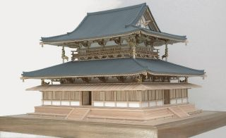 Horyuji Kondo Temple Wood Japanese Model Kit Japan