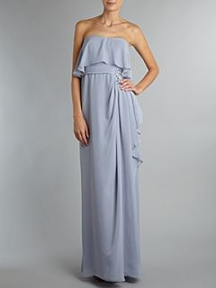JS Collections Waterfall skirt detail dress Blue