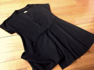 99c Start Sale Kondo Tricot Black Short Sleeve Top 12 14 Loose Fit Top