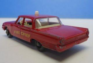 Matchbox Lesney 59 Fire Chiefs Car Ford Fairlane