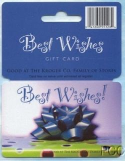 Kroger Best Wishes 2006 Gift Card