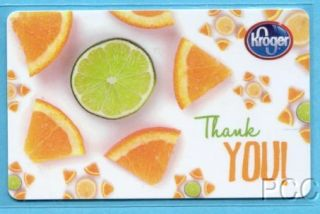 Kroger Thank You 2012 Gift Card