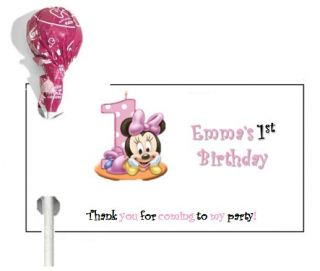 108 Minnie Mouse 1st Birthday Party Candy Bar Wrappers Favors