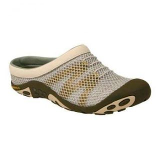 Merrell Kula Slides Mesh Clogs Tan Brown Olive Green Shoes Size 7