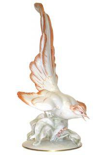 Fritz Heidenreich Tropical Bird Porcelain Figurine for Rosenthal